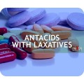 Antacids with laxatives