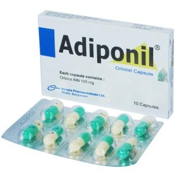 Adiponil 120mg 10's pack